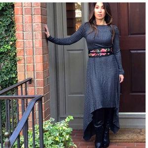 Tantalyzn Apparel Charcoal asymmetrical H/L dress